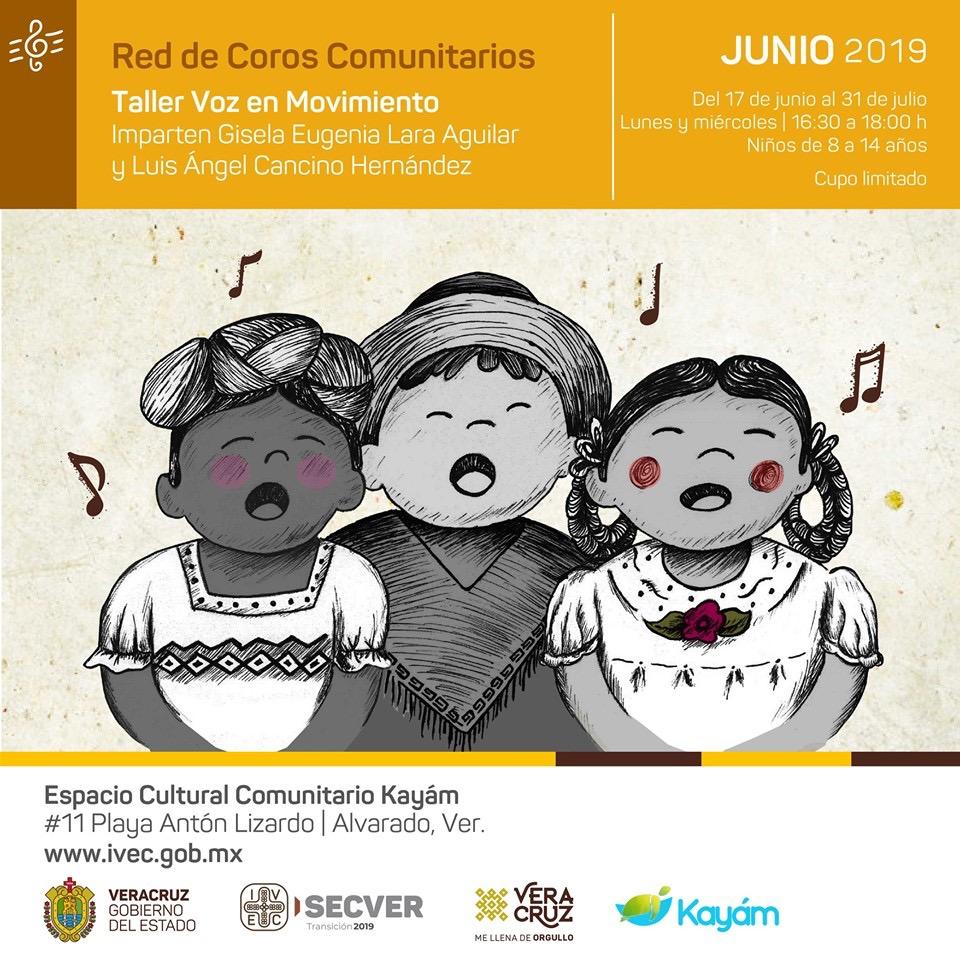 """Imparte IVEC taller infantil """"Voz en movimiento"""" en Alvarado"""
