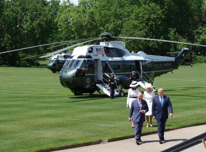 Trump inicia su visita de Estado a Reino Unido