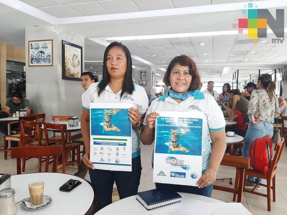 Veracruz participará en la clase de natación más grande del mundo