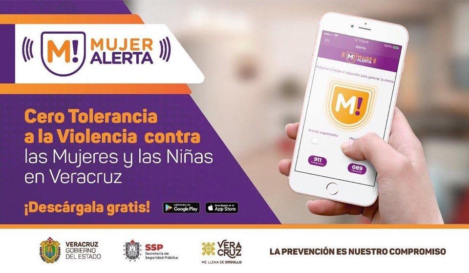 Más de 23 mil veracruzanas cuentan ya con la aplicación Mujer Alerta