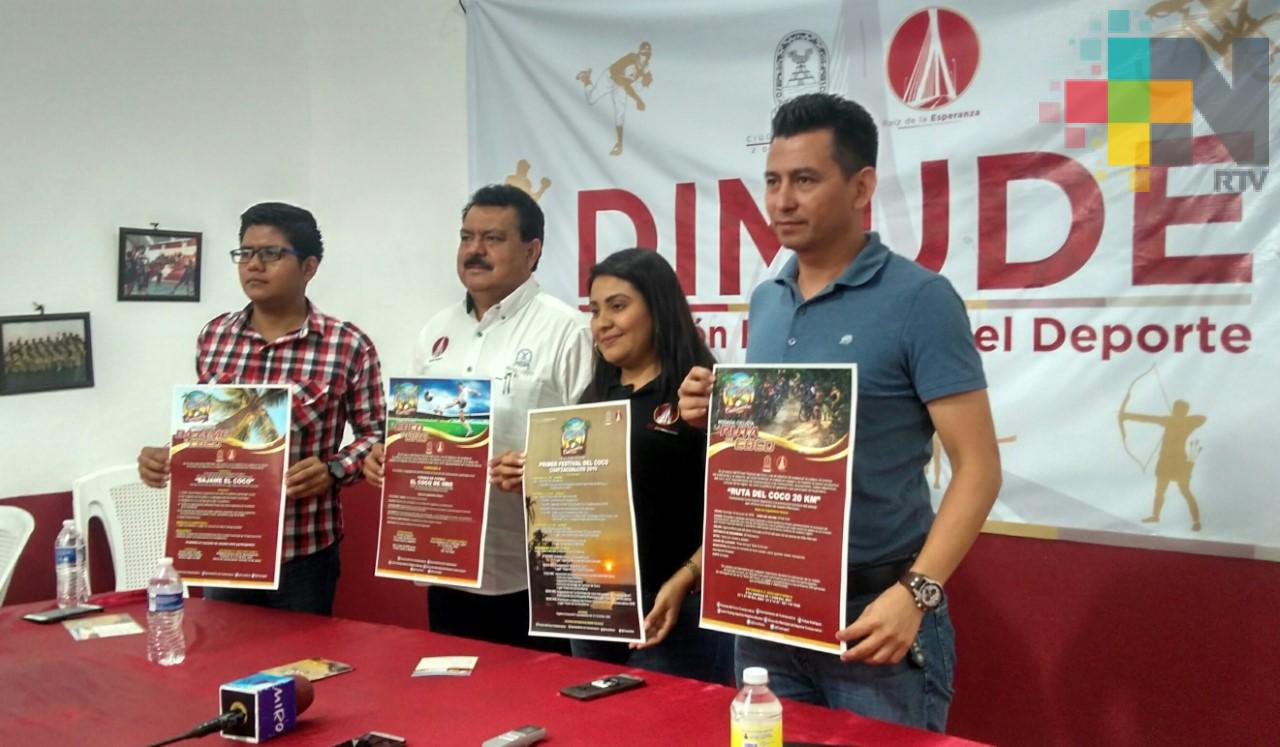 Habrá ciclismo y futbol en el Festival del Coco 2019