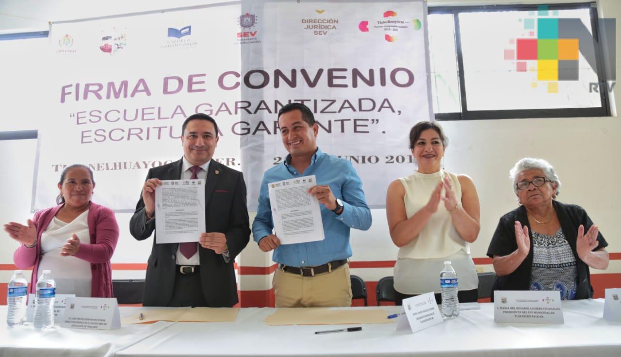 Impulsa SEV regularización de escuelas en Tlalnelhuayocan