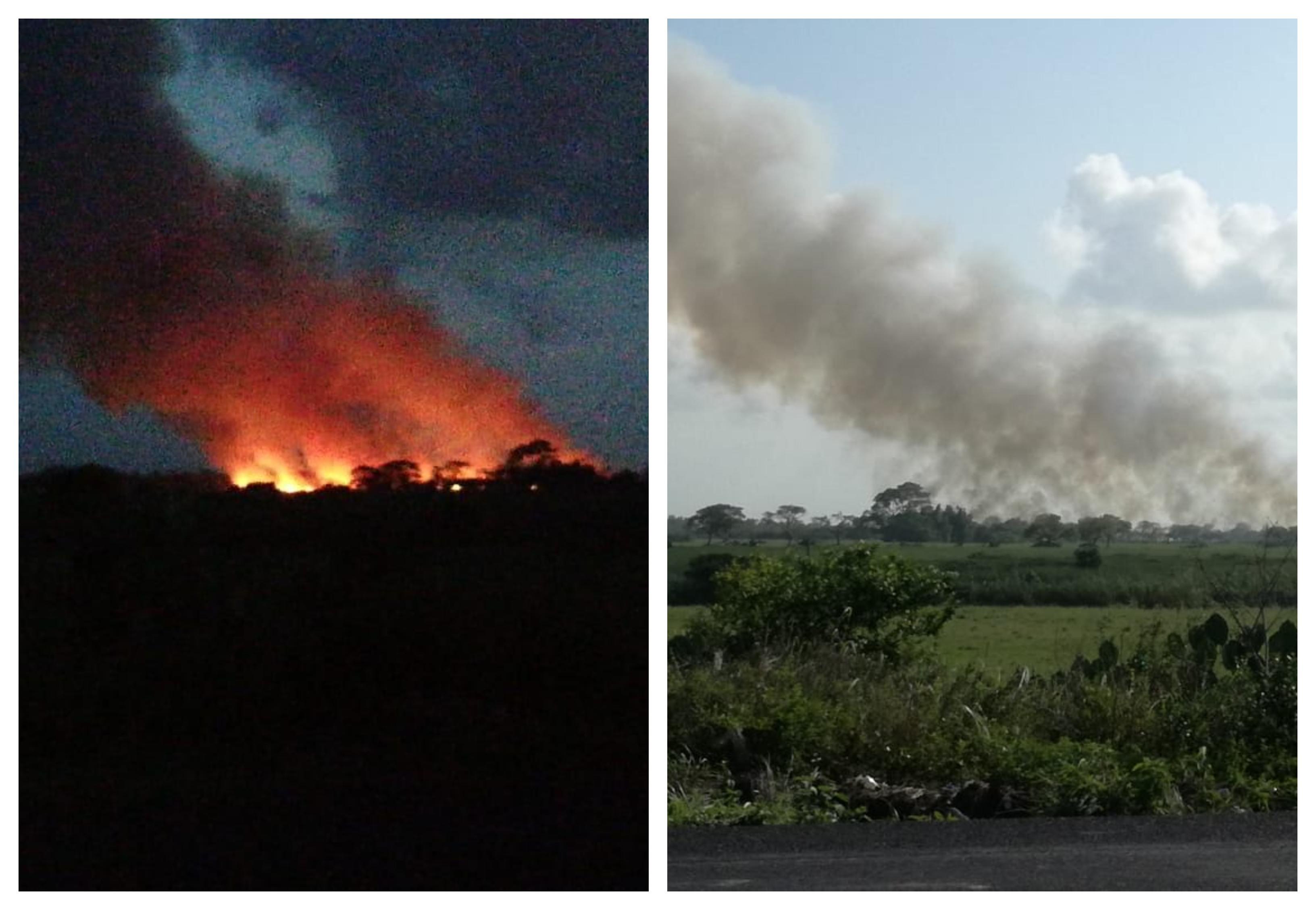 Reportan liquidado incendio forestal en Tecolutla, Veracruz