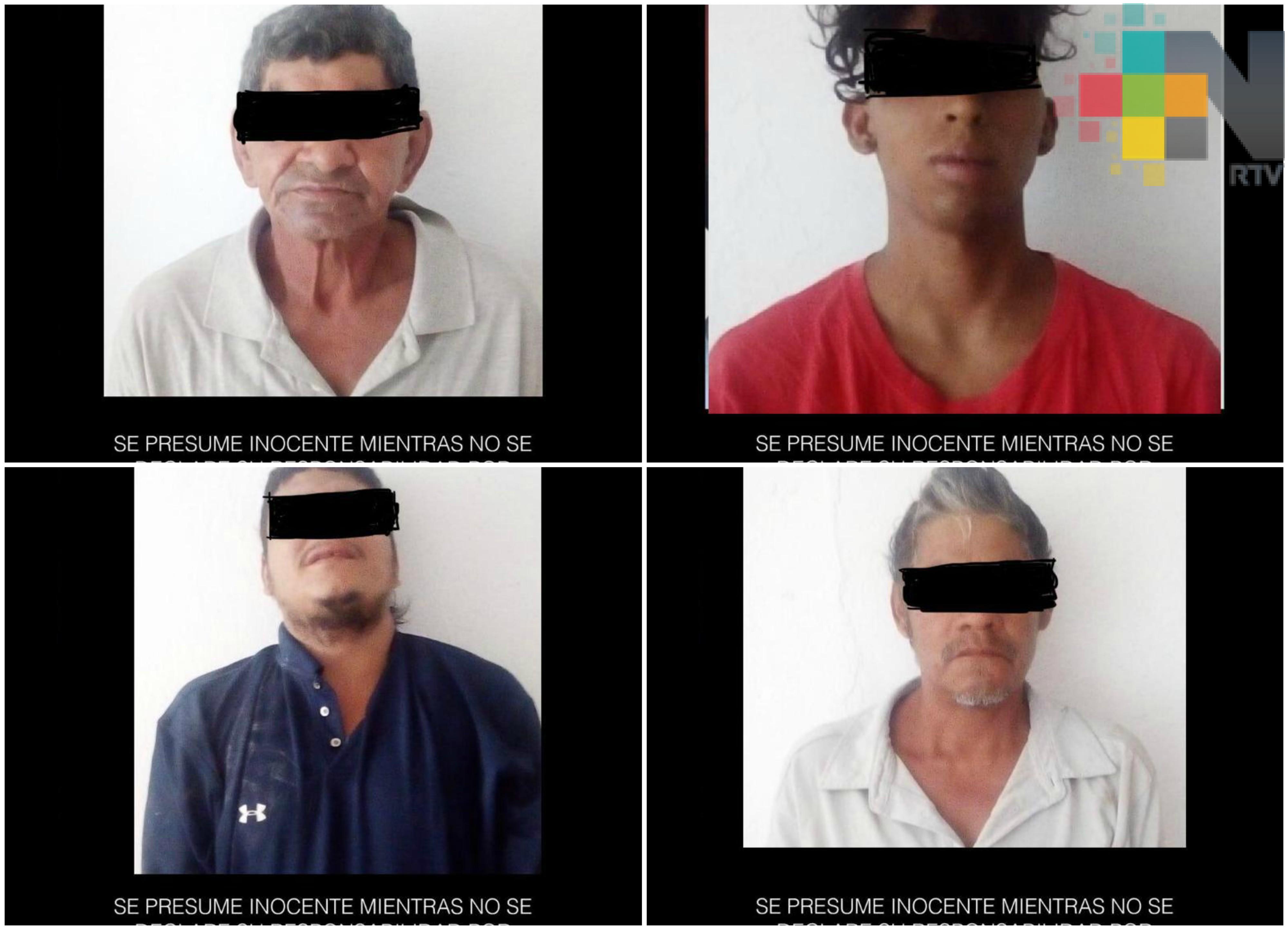 Captura SSP a cuatro sujetos presuntamente vinculados a homicidios