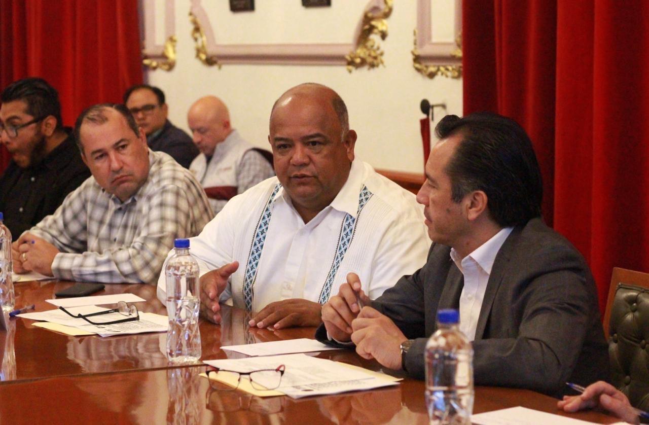 Encabezó el gobernador Cuitláhuac García, reunión de seguridad en Palacio de Gobierno