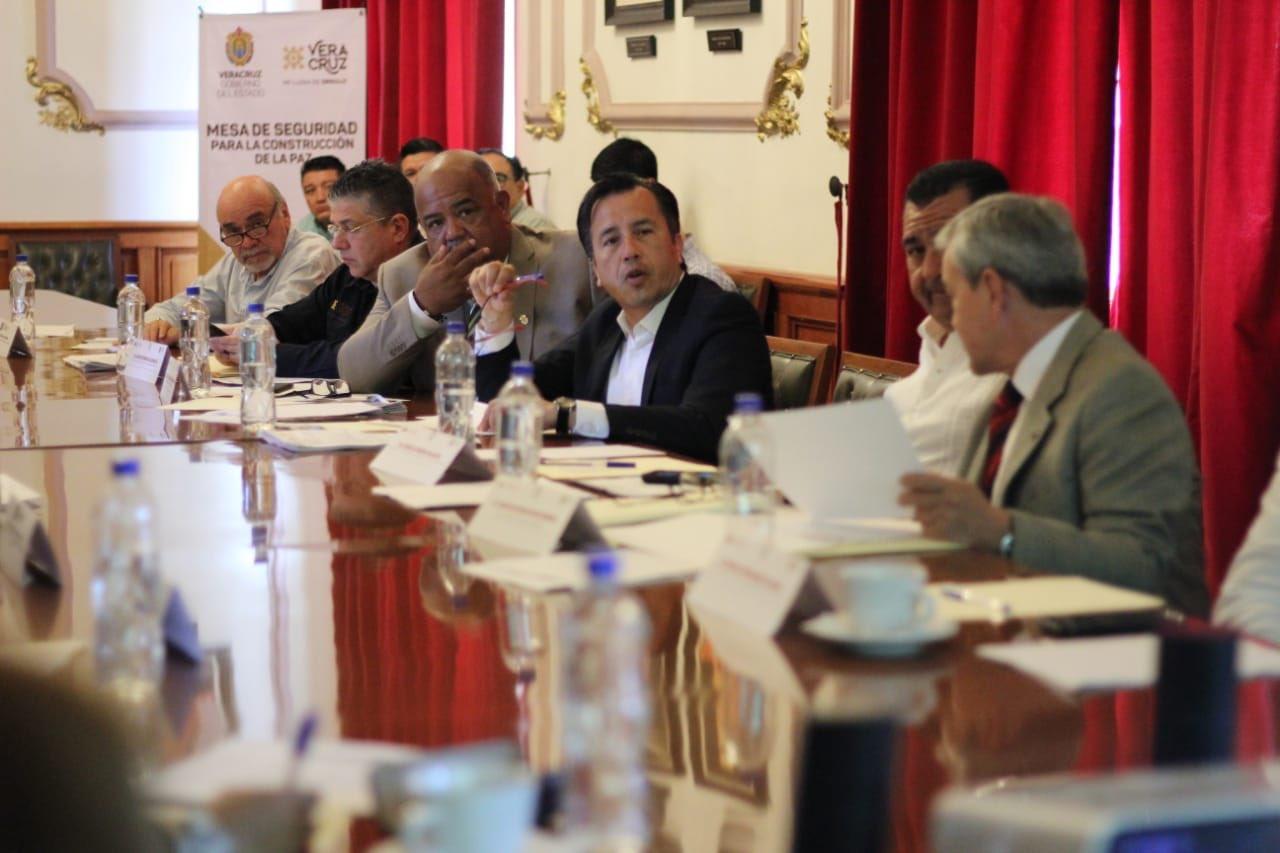 Encabezó el gobernador Cuitláhuac García, la Mesa de Coordinación para la Construcción de la Paz