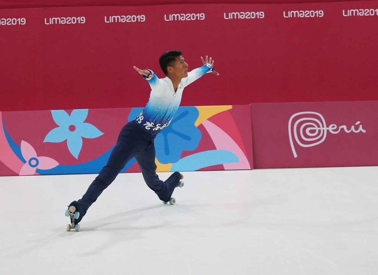Inicia participación Luis Felipe Reyna en patinaje de Lima 2019