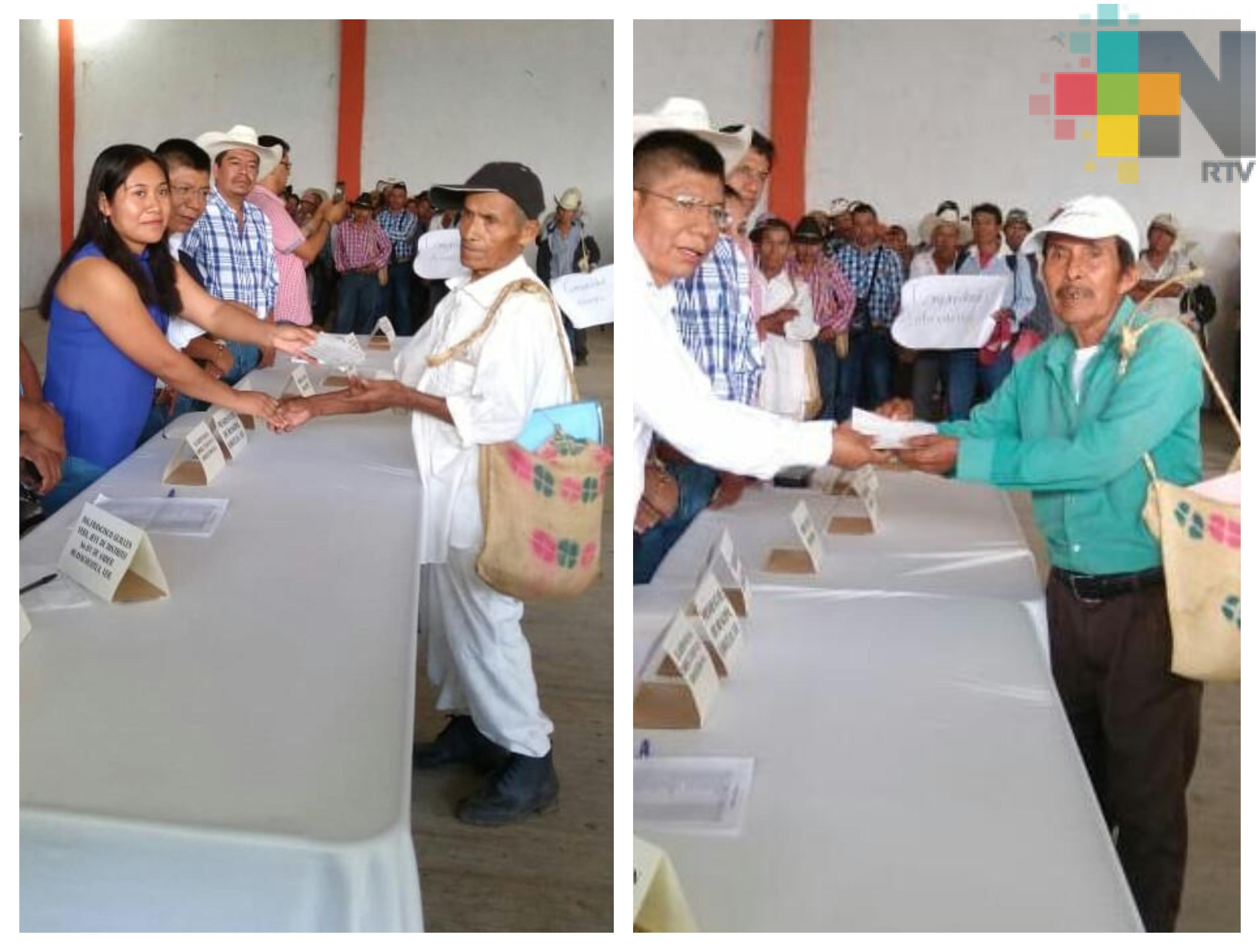Indemniza Sedarpa a mil 455 productores en Pánuco, Ilamatlán y Minatitlán