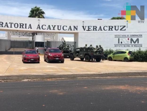 Controlada situación de migrantes en Acayucan