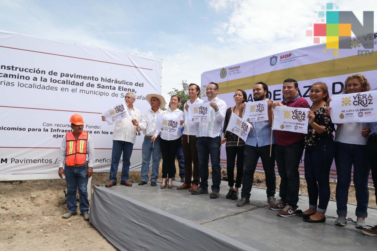 SIOP inicia obras en Vega de Alatorre y San Rafael