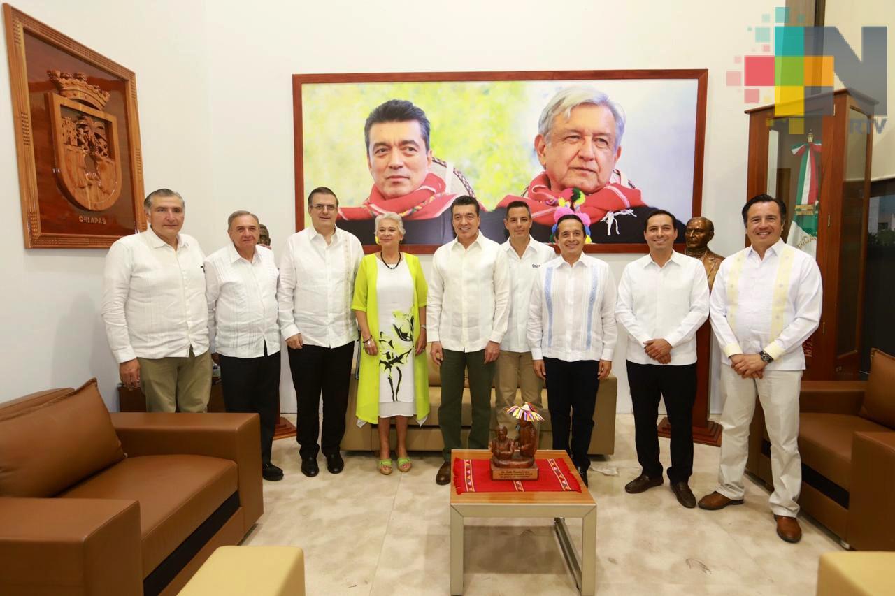 Refrenda Cuitláhuac García colaboración de Veracruz en el Plan de Desarrollo Integral en la Frontera Sur