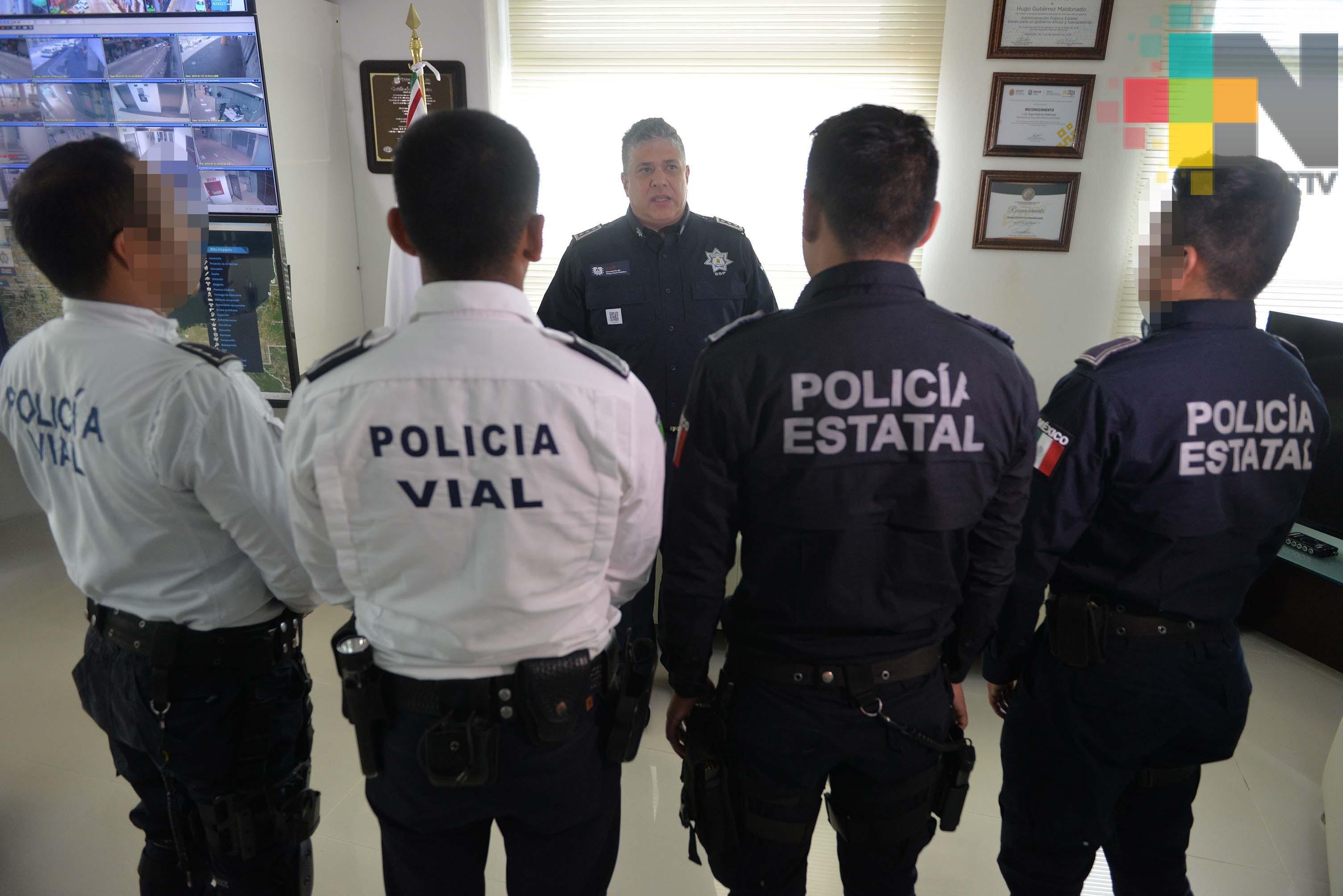 Reconoce SSP a elementos que detuvieron a presuntos homicidas, en Xalapa