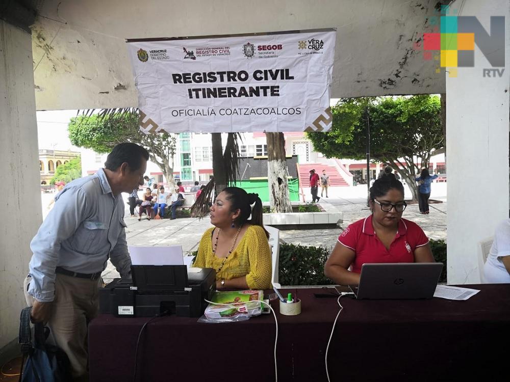 Registro Civil realizará jornada itinerante en diferentes puntos de Coatzacoalcos