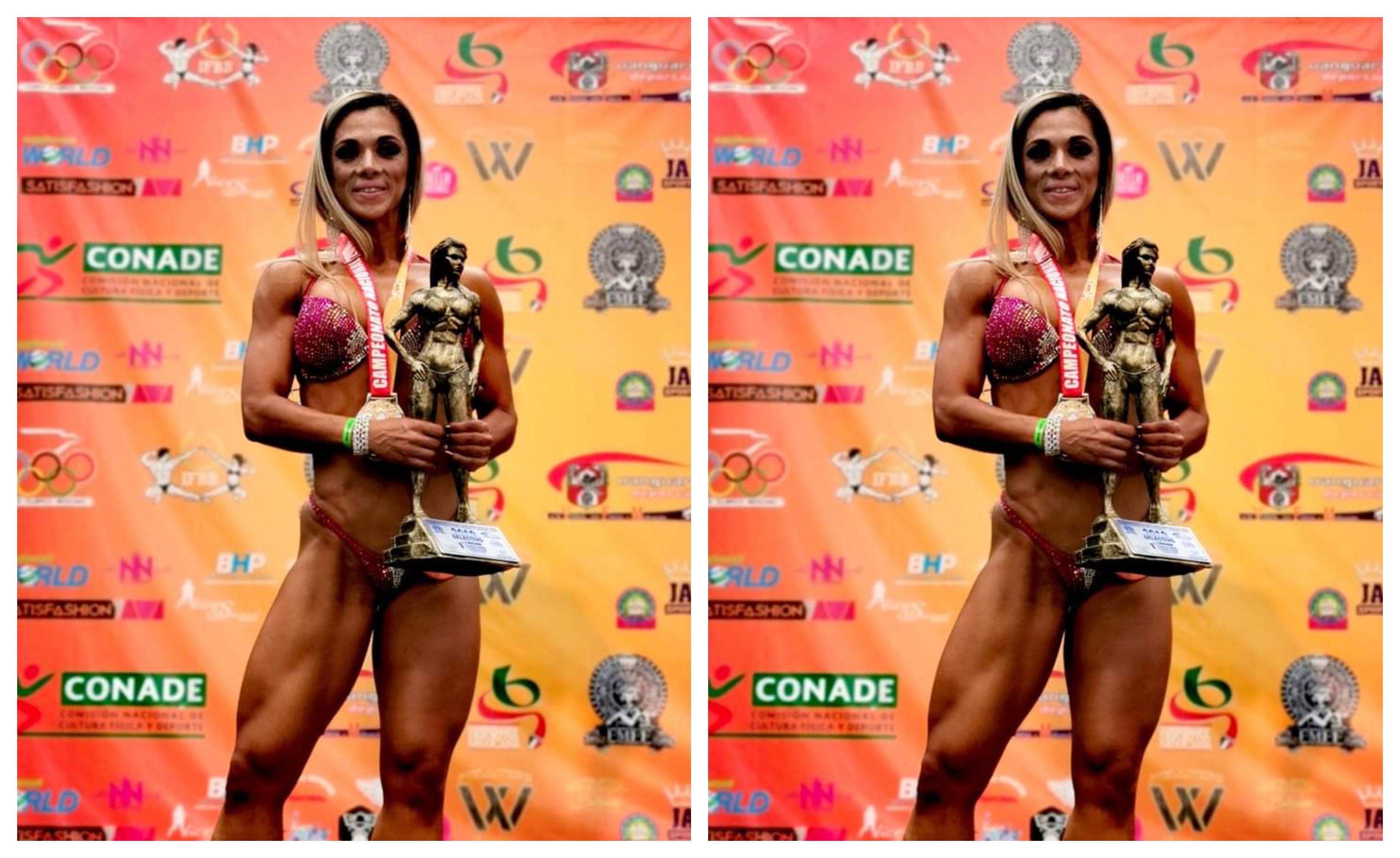 Jazmín Torruco campeona nacional Bikini Wellness  Máster