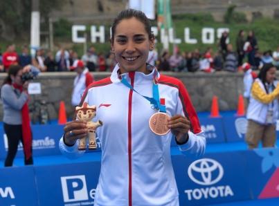 Triatleta mexicana Cecilia Pérez gana medalla de bronce en Lima 2019