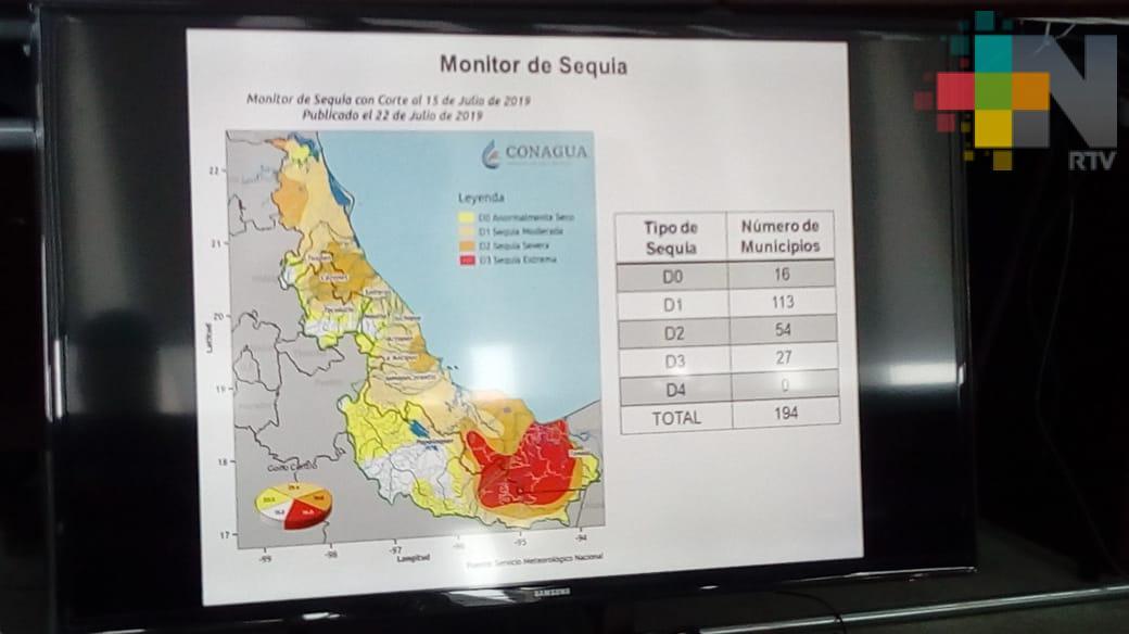 Más del 90% del estado de Veracruz presenta un grado de sequía