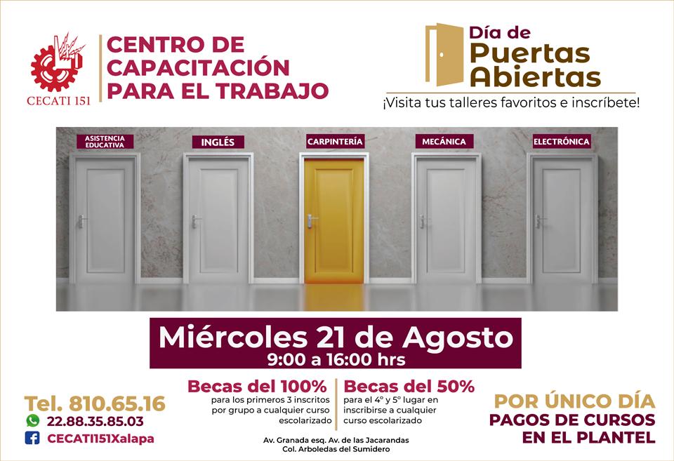 Cecati Xalapa invita a jóvenes al Día de Puertas Abiertas
