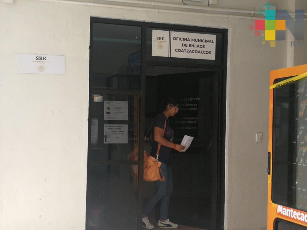 Aumentan trámites de pasaportes en Coatzacoalcos