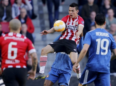 """PSV con """"Chucky"""" y """"Guti"""" toma ventaja contra FK Haugesund"""