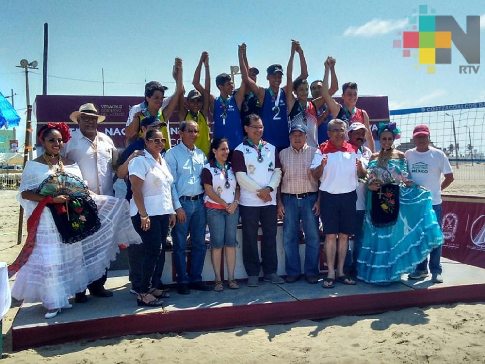 Concluye Festival Nacional Infantil y Juvenil de Voleibol de Playa en Coatzacoalcos