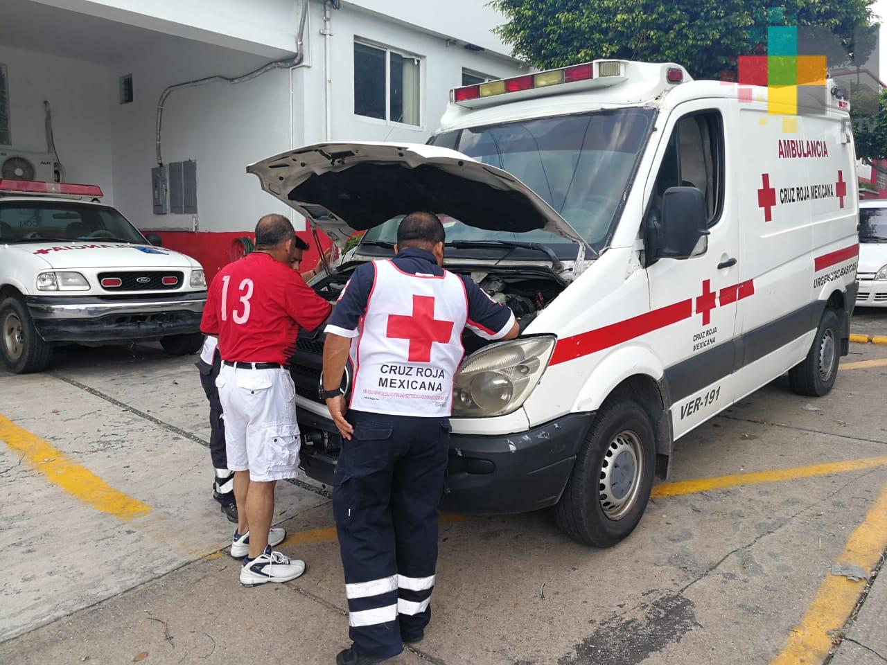Cruz Roja Coatzacoalcos recibe apoyo de la unidad de PC municipal por falta de ambulancias