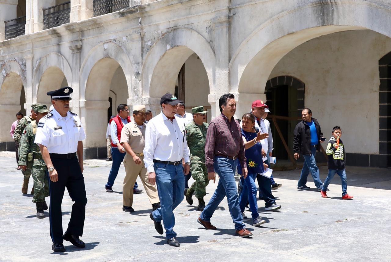 Gobernador recorre Fortaleza de San Carlos, en Perote