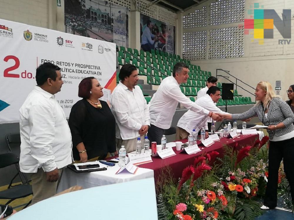En Fortín realizan foro «Retos y Prospectiva de la política educativa en Veracruz»