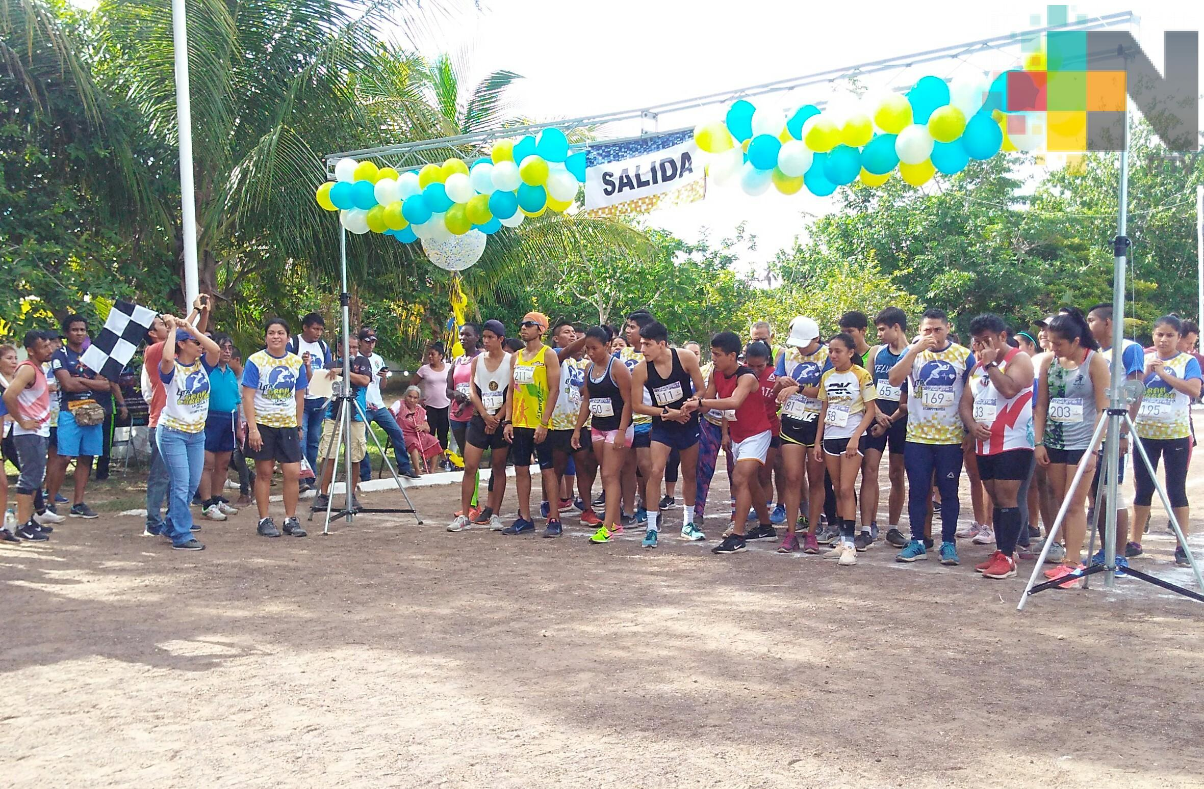 Realizaron la carrera La Milla, en Minatitlán