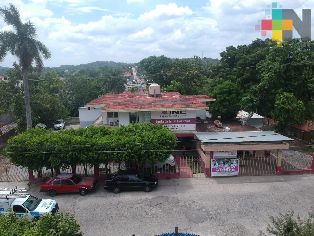 Realiza INE trabajos en Ixhuatlán de Madero