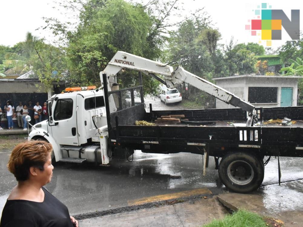 Inician rehabilitación de red eléctrica del CESER en Tantoyuca