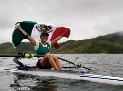 Kenia Lechuga cumple y le da oro a México en remo de Lima 2019