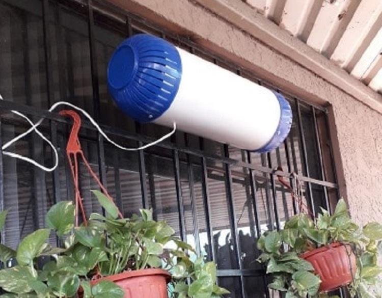 Mexicano limpia aire de Mexicali con «Pulmones Cinéticos»