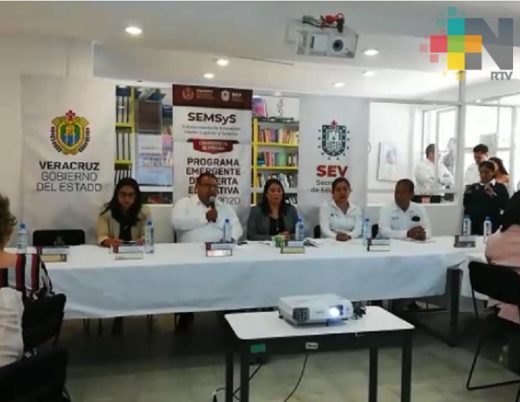 Presentan Programa Emergente de Oferta Educativa en zona centro de Veracruz