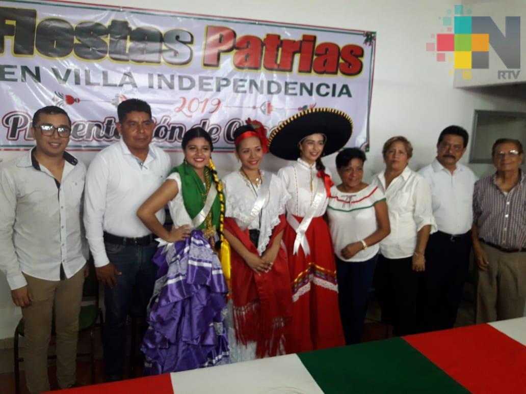 Anuncian fiestas patrias en Martínez de la Torre
