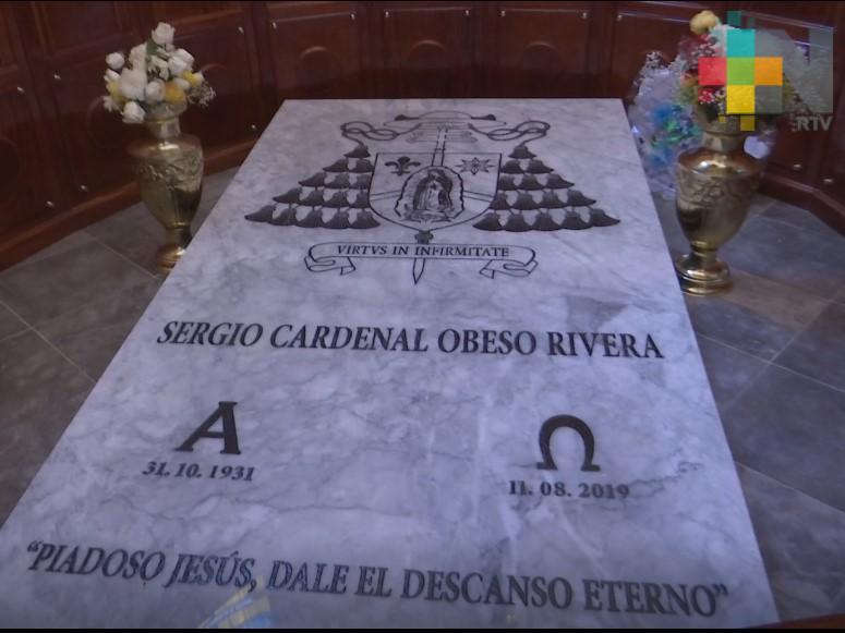 Se conmemoró el primer aniversario luctuoso del cardenal Sergio Obeso Rivera