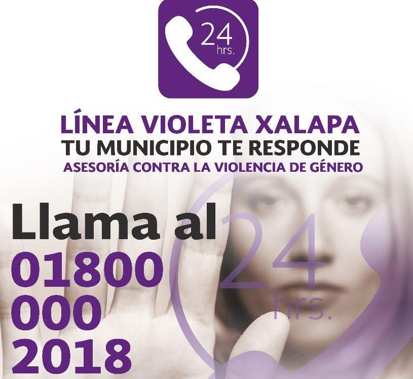 Instituto Municipal de la Mujer en Xalapa realizará charla virtual sobre Línea Violeta