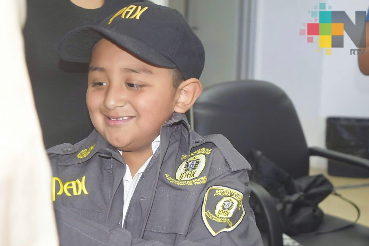 Josué, el niño que desea ser policía del IPAX