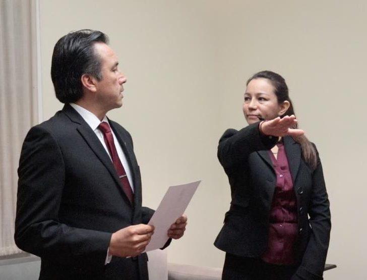 Nombra el gobernador Cuitláhuac García a Mercedes Santoyo como nueva Contralora General