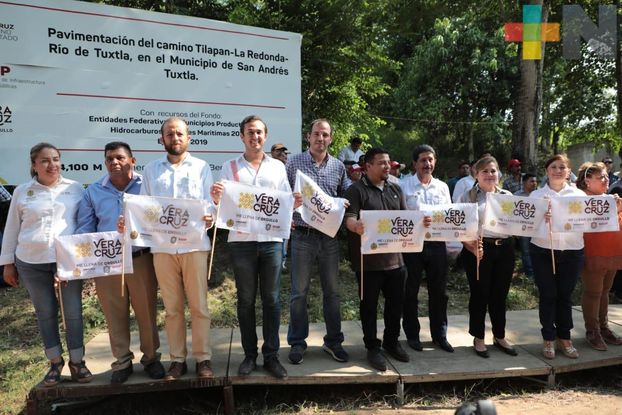 Dignifica Gobierno de Veracruz vías de comunicación en Isla y San Andrés Tuxtla: SIOP