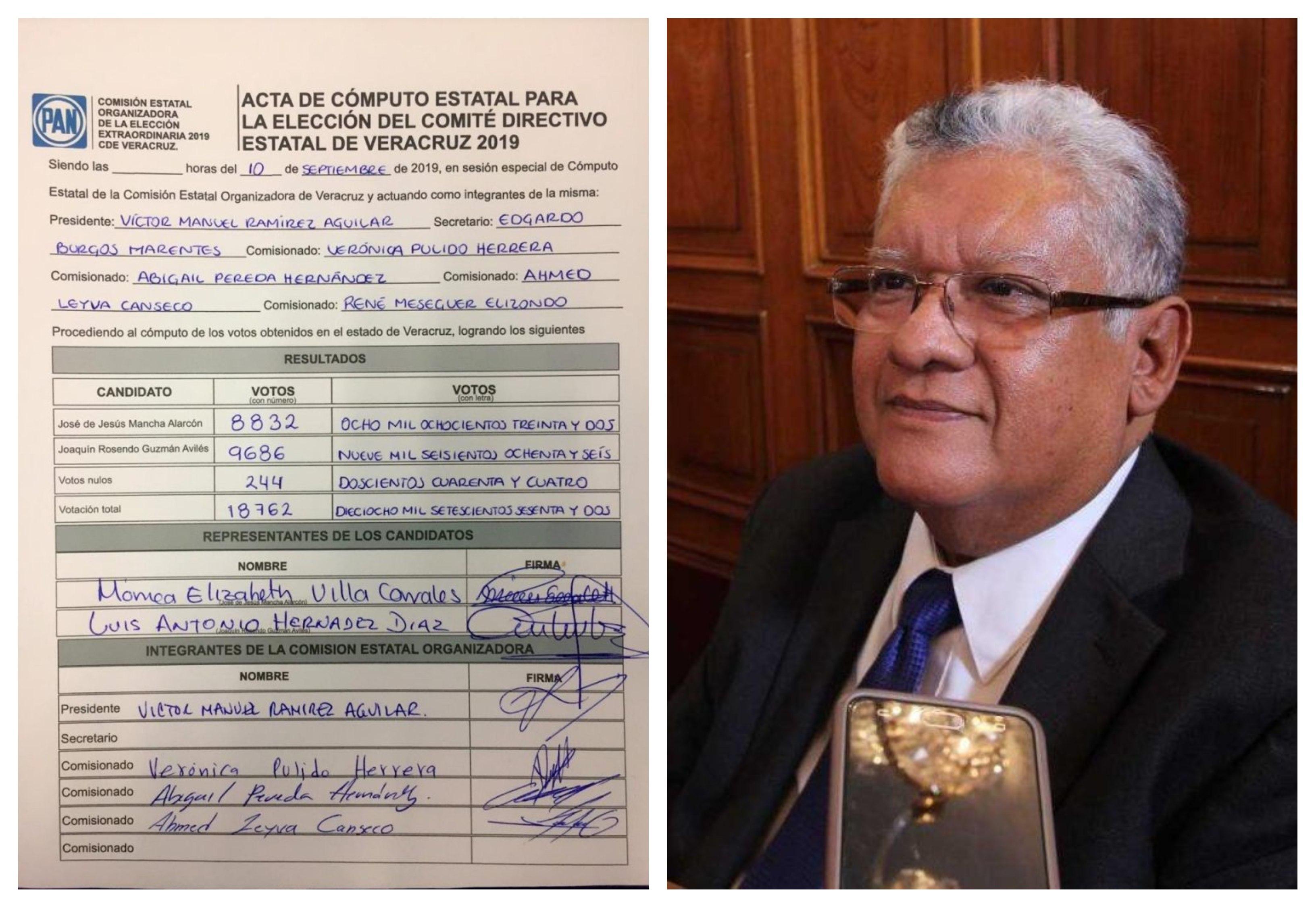Valida comisión estatal organizadora del PAN, el triunfo de Joaquín Guzmán Avilés