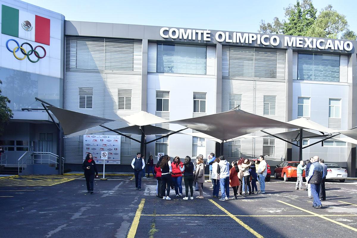 Comité Olímpico Mexicano realizó Simulacro de Prevención