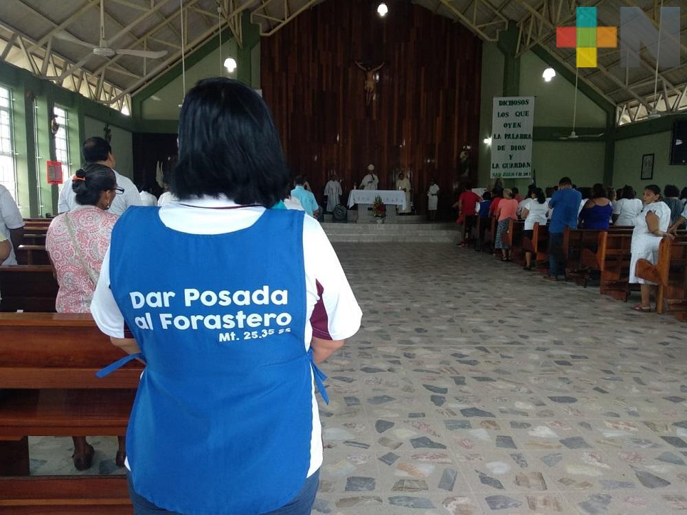 En Coatzacoalcos realizan misa para pedir protección de indocumentados