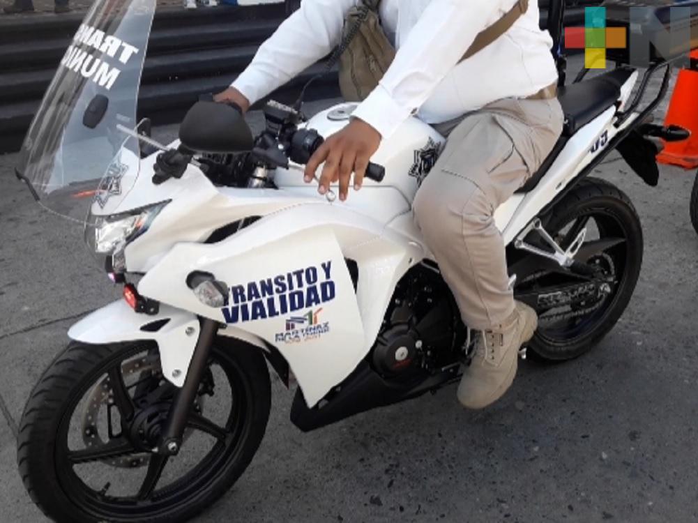 Entregan motocicletas patrullas a la Delegación de Tránsito de Martínez de la Torre