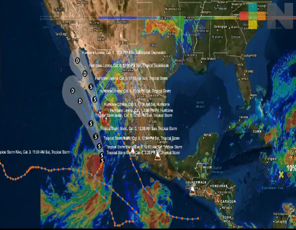 Alerta Roja por huracán Lorena