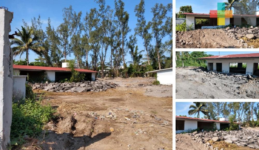 Ayuntamiento de Veracruz rellena terreno que afecta a telesecundaria, señalan maestros