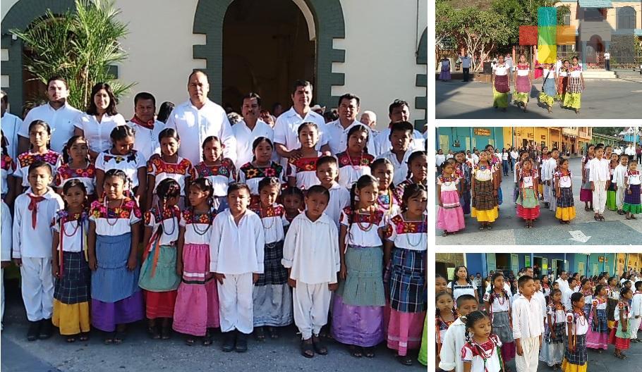Primaria bilingüe realiza honores por festejo de la Independencia nacional