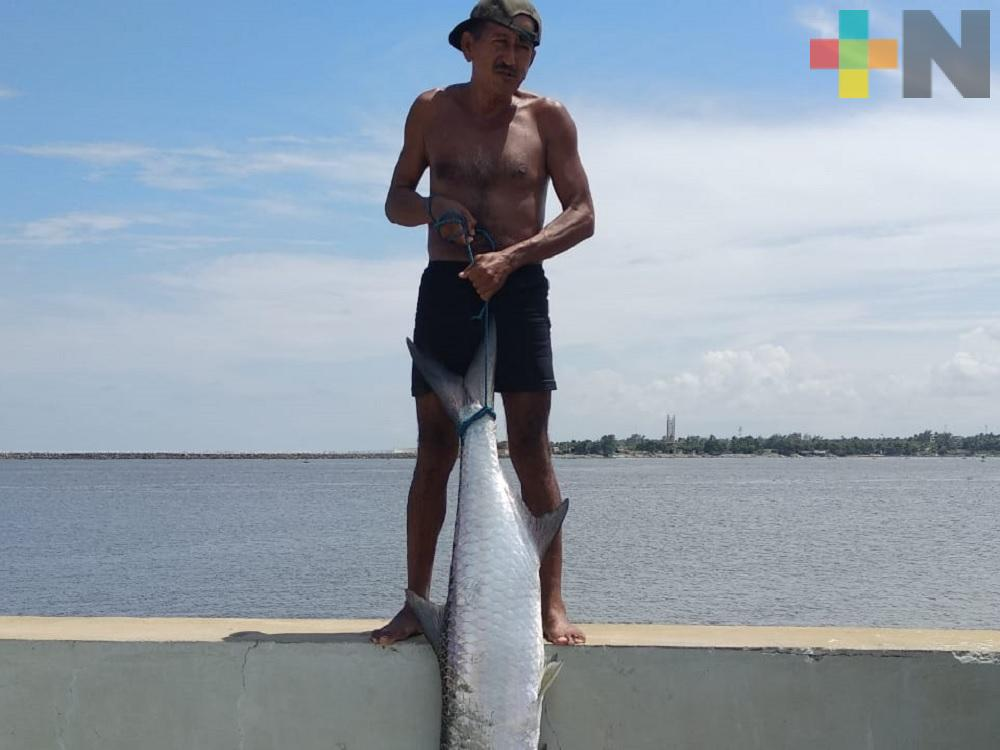 Pescadores reanudan trabajos en escolleras de Coatzacoalcos