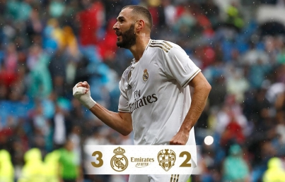 Real Madrid se impone 3-2 a un Levante que lo hizo sufrir