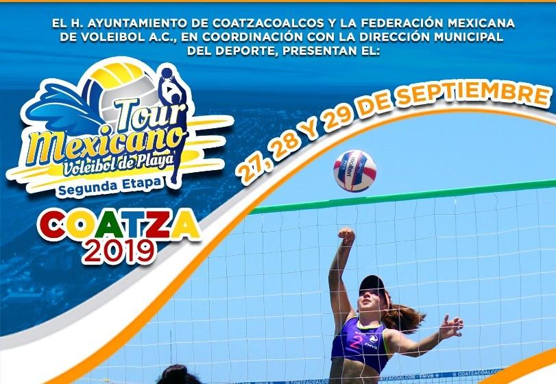 Coatzacoalcos recibirá el Tour Mexicano de Voleibol de Playa
