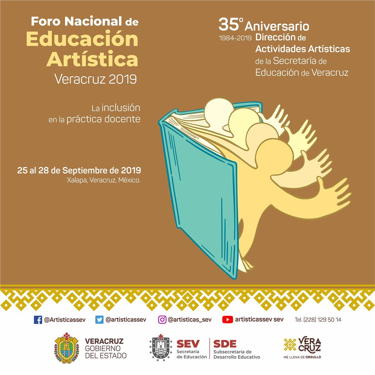 Invita SEV a Foro Nacional de Educación Artística Veracruz 2019
